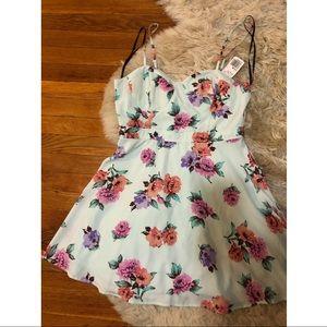 Floral shirt A line dress mini  L forever 21